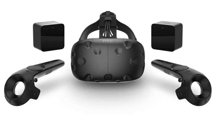 VR Room VR Glasses and Controllers