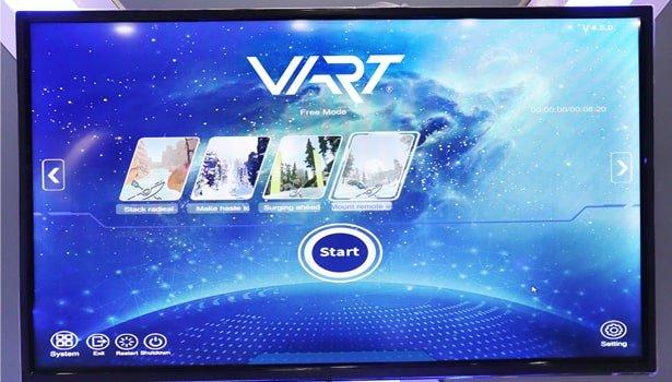 VR ski game displayer