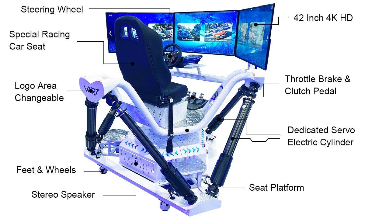 car racing simulator game machine