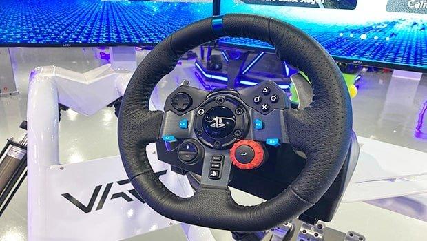 whelel racing game machine